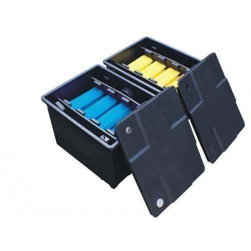 Koi Teich Filter Box System 12000 Liter - Zwei Buchtlicht System Alle Pond Lösungen CBF-350B (Teich Bio Blauer)