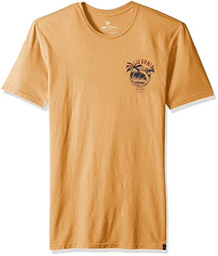 Rip Curl Herren Californication Heritage Tee T-Shirt, Gold, Klein -