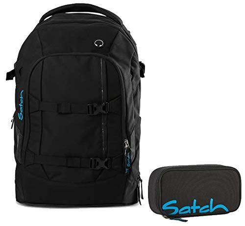 Satch by Ergobag Schulrucksack-Set 2-tlg Black Bounce 05 black bounce