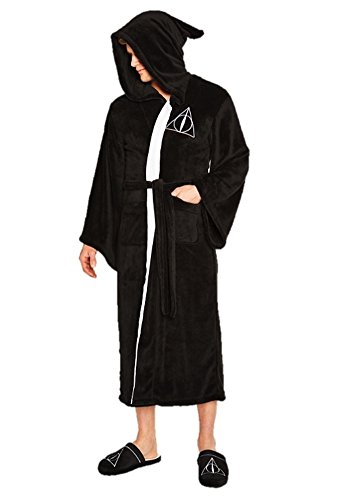 Groovy Harry Potter Fleece Bathrobe Deathly Hallows Pigiami