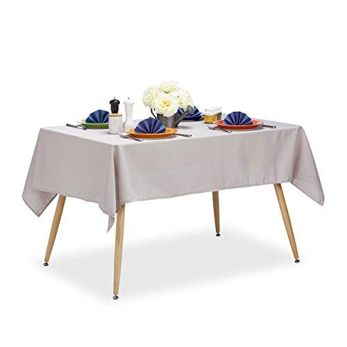 Relaxdays Tischdecke wasserabweisend, pflegeleicht, Polyester-Tischtuch, bügelfest,...