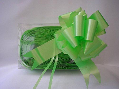 30 x rapido raso tirare archi - verde lime 31mm (10.2cm pollici ampio when formato) per il regalo decorazioni, fiore mazzo di fiori & composizioni, cestini, nuziale macchine, floreale omaggi, lavoretti fai da te, natale cestini