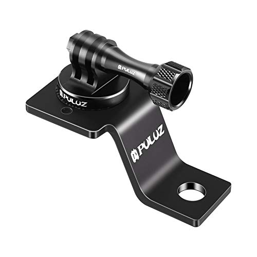 PULUZ PU114B Aluminum Alloy Motorcycle Fixed Holder Mount For GoPro Camera Black Black Fixed Mount