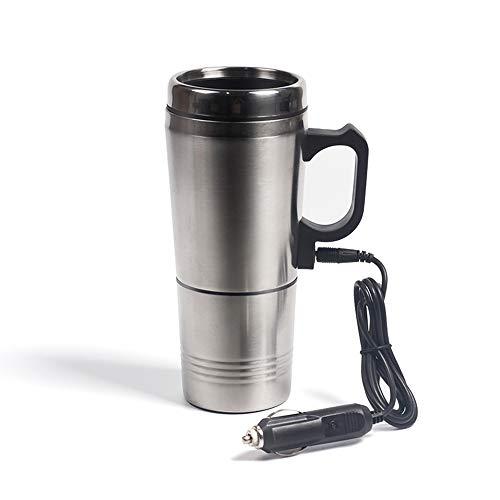 Preisvergleich Produktbild PORJH 12V Auto kochendes Wasser kann gekochtes Wasser Auto elektrische Tasse tragbaren Edelstahl Auto Wasser Heizung Kaffee Sein