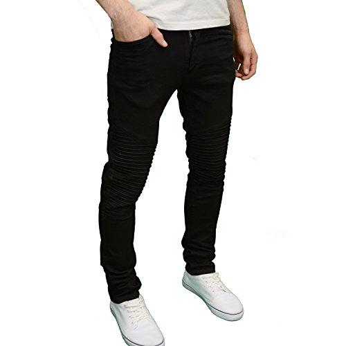 Seven Series - Jeans - Homme bleu bleu Panel - Black