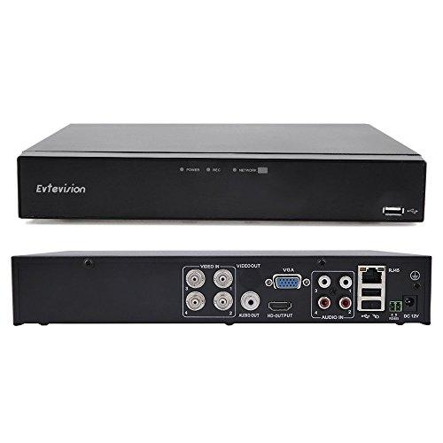 Recorder Digital Security Video (Evtevision 4Ch 1080P 2.0MP Digital Video Recorder mit HDMI VGA Ausgang Unterstützung TVI/CVI/ONVIF/AHD/Analog Kamera P2P CCTV DVR Smartphone Fernzugriff Bewegungserkennung Email Alert für CCTV Überwachungssystem (NO HDD))