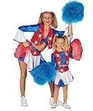 Stekarneval Kinder-Kostüm Cheerleader, Gr. 128