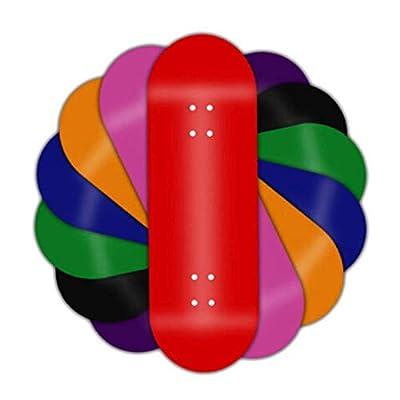 WJH9 1 Stück Mini-Skateboard Spielzeug FSB Finger Skate Boarding Kleine Alloy komplett aus Holz Maple Reduce Jungen-Kind-Kinder Erwachsene Druck Geschenke,b