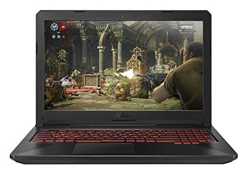 """ASUS TUF FX504GE-E4599T {Core i5-8300H (2.30 GHz Turbo up to 4.00 GHz / 8GB DDR4 2666 Mhz./ 1TB SSHD + 256 GB SSD/ 15.6"""" Full HD IPS/ Win 10 /NVIDIA GeForce GTX 1050Ti 4 GB Graphics/1 Yrs Warranty/Black}"""