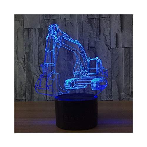 XIAOYEDENG Excavator 3D Light Button LED Licht Kreative Geschenk Nachtlicht Personalisierte Nachtlicht Bluetooth Lautsprecher Licht