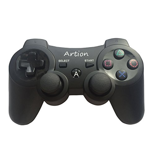Artion Schwarz Bluetooth drahtlos Game Controller für PS3 Controller (Bluetooth-game-controller Ps3)