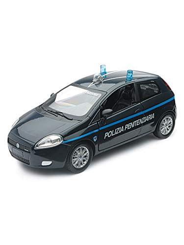 New Ray- NewRay FIAT Grande Punto Polizei Penisstift Die Cast 1:24 Modelle Collez, Colore, 71153