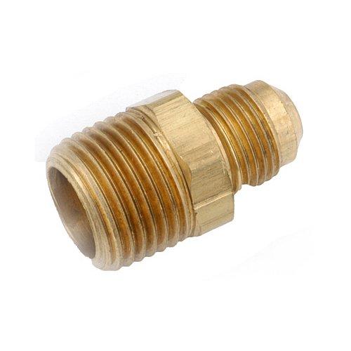 Anderson Metals Corp 714048–08061/5,1cm Flare X 3/20,3cm Stecker Eisen Rohr Gewinde, Messing-Anschluss (0806 Flare)