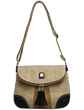 CASPAR TS1028 Damen Tasche Handtasche Rucksack Umhängetasche - diverse Modelle