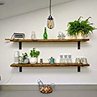 Scaffold Board Rustic Wooden Shelves -SHORT (30cm to 140cm) with OSMO Finish