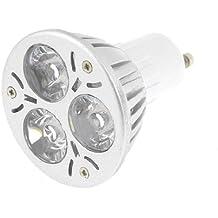 CA 12V 1W Blanco Cálido Lámpara 3 LEDs Ahorro De Energía GU10 Bombilla