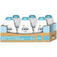 Baby Dove Champú Hipoalergénico Hidratación Profunda - Pack de 6 x 400 ml (Total: 2400 ml)