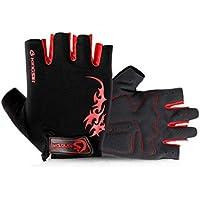 GYPO Barbecue Handschuh Radfahren Mountainbike Handschuhe Fitness Sport Handschuhe Half Finger Reiten Rutschfeste Handschuhe für Männer Frauen (XL) Grillen Handschuhe