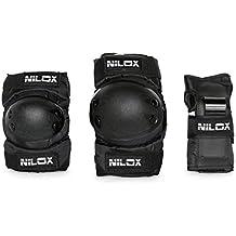 Nilox 30nxkimoju001, Kit Protección hoveboard Unisex Niños, Negro, talla única