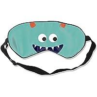 Preisvergleich für Natural Silk Eyes Mask Sleep Little Monster Blindfold Eyeshade with Adjustable for Travel,Nap,Meditation,Sleeping...