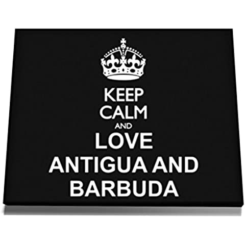 Teeburon Keep calm and love Antigua And Barbuda Tela muro