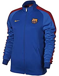 Nike FCB W NSW N98 TRK JKT AUT - Chaqueta FC Barcelona para mujer, color azul, talla XL