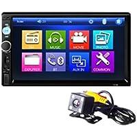 Tongshi 7 Touch HD Bluetooth de la pantalla del GPS del coche de radio estéreo 2 DIN MP5 / MP3 / cámara USB / AUX
