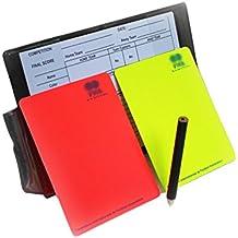 a-nam árbitro Set de tarjetas portátil, deportes árbitro Kit para fútbol, fútbol árbitro rojo y amarillo tarjetas de tarjetas portátil Score Hojas