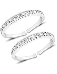 c015e3e296097b MJ 925 Exclusive 92.5 Sterling Silver Toe Ring (Leg Thumb Ring) for Women