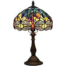 FABAKIRA Tiffany Estilo Lámpara de Mesa 10 Pulgadas Lámpara de Cabecera Lámpara de Escritorio Lámpara de