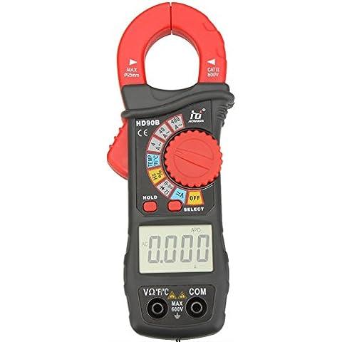 KKmoon Pinza amperimétrica digital Amp Volt Ohmetro HD HD90B Range Auto w / frecuencia de capacitancia y temperatura de