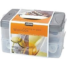 Pebeo 45 ml Vitrea 160-Glass Paint Atelier Collection Set, Assorted Colours