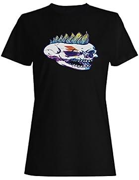 Nueva Música Punk Skull camiseta de las mujeres m405f