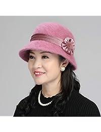 Gorra de esquí Beanie Cap Woo hat hembra otoño e invierno madre de mediana  edad gorro d47a8c382e5