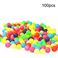 100Pcs Colored Ping Pong Balls Entertainment Table Tennis Mixed Colors for Game - Random Color collectsound