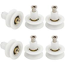 Sourcingmap  - 6 piezas de deslizamiento de 22 mm de diámetro del rodillo de la rueda de puerta de armario con puertas correderas