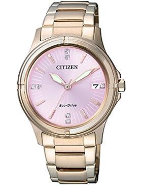 Citizen Damen-Armbanduhr Analog Quarz Edelstahl beschichtet FE6053-57W