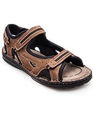 Zerimar Sandalias de piel para hombres Sandalias Trekking Zapatillas de senderismo Color Moka Talla 43