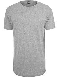 Urban Classics Herren T-Shirt Shaped Long Tee mit Rundhals