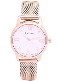 Giordano Analog Silver Dial Women's Watch-C2085-33