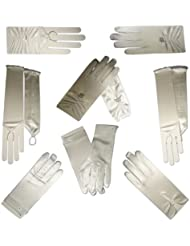 Kommunion Handschuhe für Mädchen in der Farbe weiß
