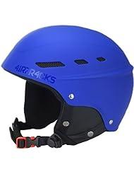 AIRTRACKS MASTER Skihelm- Snowboardhelm mit Ventilationssystem und stufenloser Anpassung / Ski- Snowboard Helm / Helmet / 5 x Farben Matt zur Auswahl