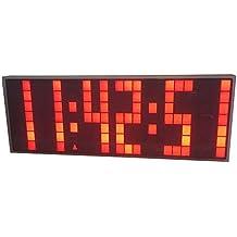 Reloj de pared LED digital Reloj de alarma / Cuenta atrás / Reloj de avance (rojo)