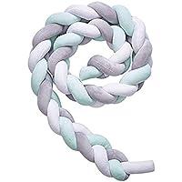 Tour de lit coussin Serpent Coussin Tressé pare-chocs Velours Protection bébé sécurité 100% Fait à Main Doux et Souple