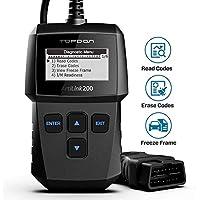 TOPDON AL200 OBD2-Diagnosegerät Kfz-Diagnosegerät für alle Fahrzeuge, Deutsch-Auslesegerät für Benzin Dieselmotor, OBDII EOBD CAN Fehlercodes auslesen & löschen etc.