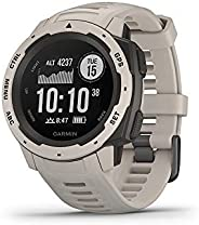 Garmin Instinct, Rugged Outdoor Watch with GPS, Features GLONASS and Galileo, Heart Rate Monitoring and 3-axis