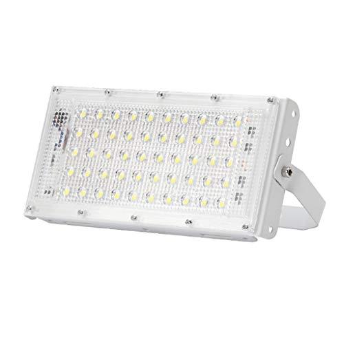 50W WKZ LED-Flutlichtstrahler Flutlicht Wasserdichtes Scheinwerferlicht für Arbeitslicht IP65 für Fabrik-Gartenanschlagtafel (Farbe : Weiß)
