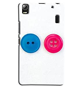 Blue Throat Button Pattern Hard Plastic Printed Back Cover/Case For Lenovo A7000