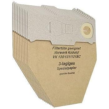 30 Staubsaugerbeutel Vorwerk Kobold 130 131 *3-lagig*