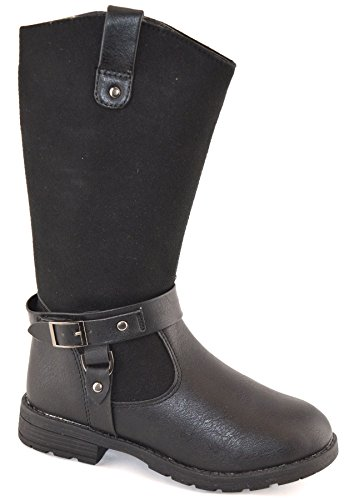infant-girls-mid-calf-buckle-inside-zip-grip-sole-riding-biker-boots-shoes-size-11-6-uk-6-uk-6